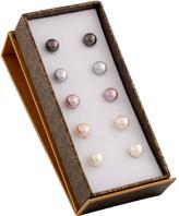 Bella Pearl Pink & White Pearl Five-Pair Stud Earrings Set