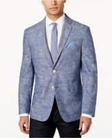 Tallia Men's Slim-Fit Light Blue Paisley Sport Coat