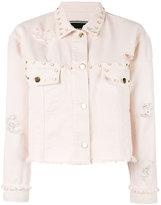 Marco Bologna - oversized studs denim jacket - women - Cotton - 42