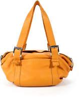 Carla Mancini Mango Leather Silver Tone Double Strap Shoulder Handbag