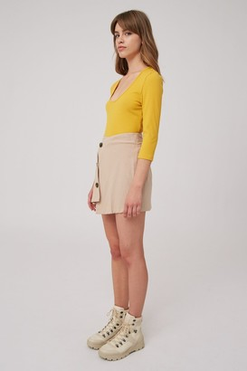 The Fifth SOLAR LONG SLEEVE TOP mustard