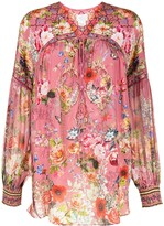 Thumbnail for your product : Camilla Floral-Print Silk Blouse