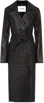 GRLFRND Lori leather trench coat