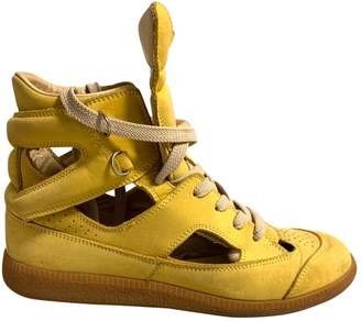 Maison Margiela Yellow Suede Trainers