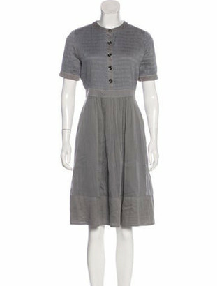 Burberry A-Line Midi Dress Grey