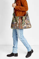 Valentino Rockstud Camouflage Printed Shopper