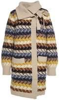 See by Chloe Merino Wool And Cashmere-blend Herringbonecardigan Coat