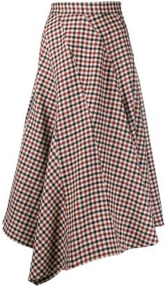 J.W.Anderson Checked Asymmetric Skirt