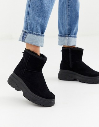 Park Lane faux fur lined ankle boots-Black