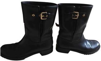 Louis Vuitton Black Leather Ankle boots