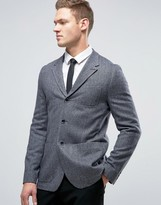 Ted Baker Slim Herringbone Blazer In Tweed