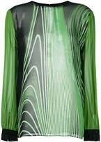 Roberto Cavalli sheer printed blouse