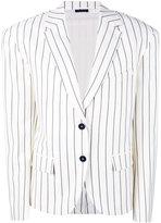 Jil Sander oversized pinstripe blazer - women - Silk/Spandex/Elastane/Cupro/Virgin Wool - 34