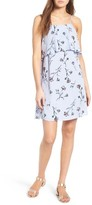 Lush Women's Floral Print Popover Shift Dress