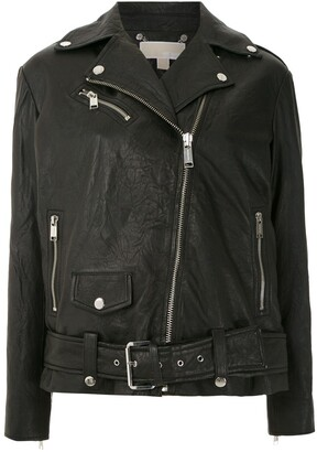 MICHAEL Michael Kors LONG LTHR MOTO JACKET