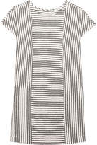 Madewell Daphne Striped Linen-blend Mini Dress - Gray
