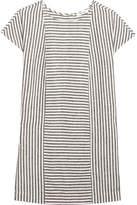 Madewell Daphne Striped Linen-blend Mini Dress - Gray
