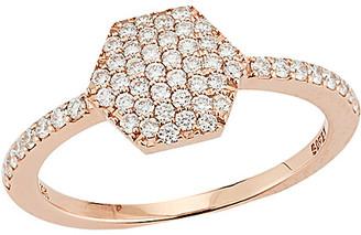 Nephora 14K Rose Gold 0.36 Ct. Tw. Diamond Hexagon Ring