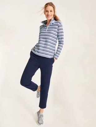 Talbots Textured Stripe Half Zip Pullover