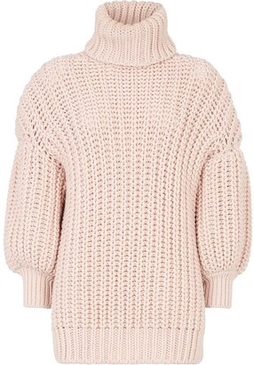 Fendi Roll Neck Chunky Knit Jumper