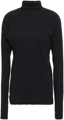 Haider Ackermann Ribbed Cotton-jersey Turtleneck Top