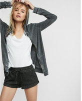 Express One Eleven Ribbed Shortie