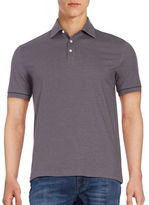 Black Brown 1826 Cotton-Blend Polo