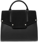 Mackage Brinley Handle Satchel With Magnet Closure In Black/Gold