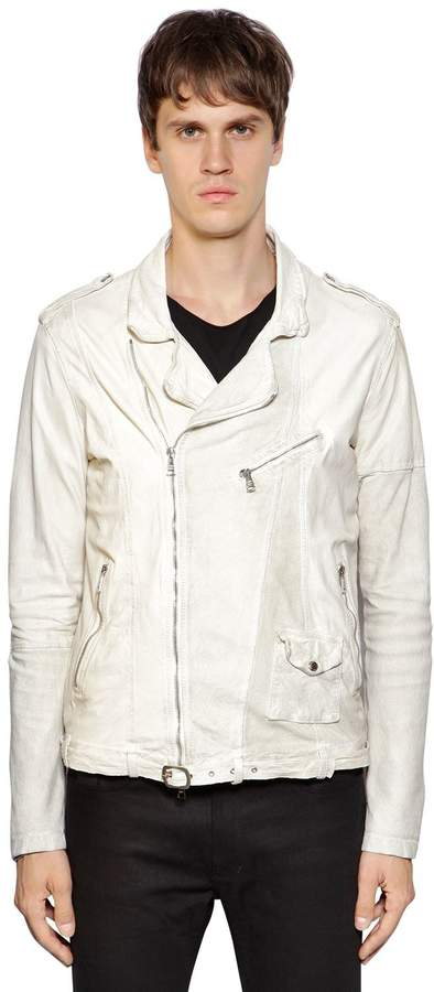 Giorgio Brato Leather & Suede Biker Jacket