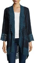 Johnny Was Lolita Lacy Georgette Jacket, Navy Shadow