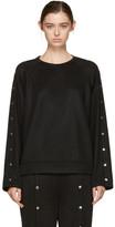 Alexander Wang Black Snaps Sweatshirt