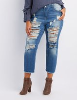 Charlotte Russe Plus Size Refuge Destroyed Straight Leg Jeans