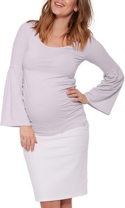 Stowaway Collection Bell Sleeve Maternity Top