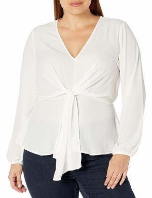 Forever 21 Women's Plus Size Knotted Top