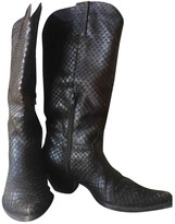 Non Signã© / Unsigned Non SignA / Unsigned Brown Python Boots