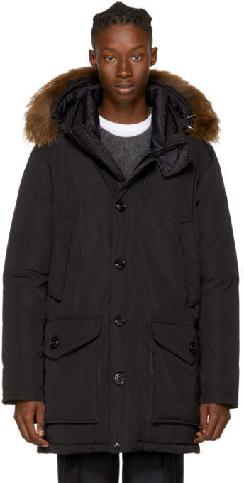 Moncler Black Down River Parka