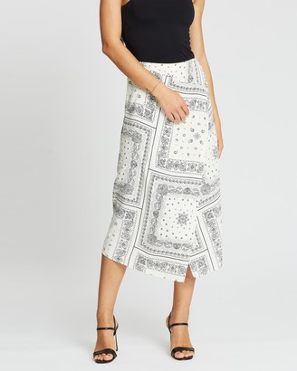 Atmos & Here Wrap Scarf Print Skirt