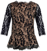 Erdem Narissa lace 3/4 sleeve top