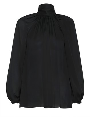 Zimmermann Gathered Bow Long Sleeve Top