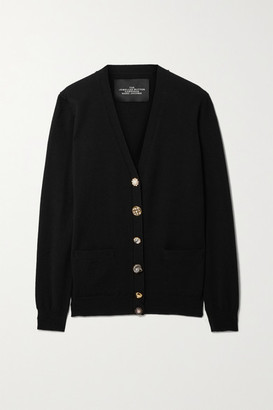 Marc Jacobs Embellished Wool And Cashmere Cardigan - Black