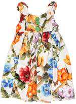 Dolce & Gabbana Floral Printed Cotton Jersey Dress