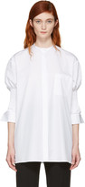 Haider Ackermann White Smocked Shirt