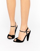 Paper Dolls Velvet Knot Heeled Sandals