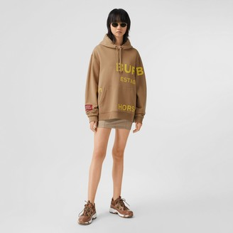 Burberry Horeferry Print Cotton Overized Hoodie