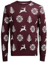Jack and Jones Crewneck Printed Pullover