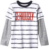 Joe Fresh Kid Boys' Print Fooler Tee, Off White (Size M)