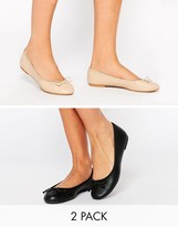 Asos LILY PAD Two Pack Ballet Flats