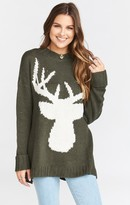 MUMU Fireside Sweater ~ Olive Deer Knit