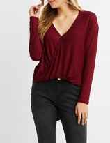 Charlotte Russe Surplice High-Low Tunic