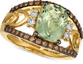 LeVian Le Vian Chocolatier Green Amethyst (2-5/8 ct. t.w.) & Diamond (5/8 ct. t.w.) Ring in 14k Gold